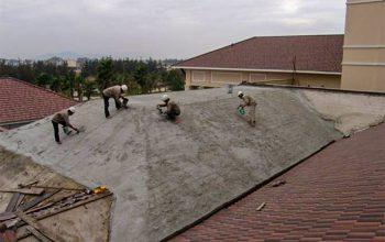 Chống thấm sàn mái ngói với Nhũ tương chống thấm PV8686